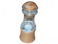 mlynček na korenie KLASIK 15cm akryl + driev. prírodné