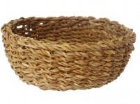 košík guľatý veľký pr.30x13cm morská tráva