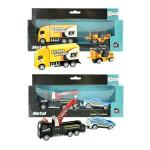Auto nákladné / odtahovka 2ks kov 18cm na spätné natiahnutie - mix variantov či farieb