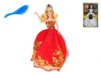 Bábika princezná kĺbová 29 cm s doplnkami - mix farieb