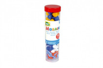 Štipce + klobúčiky plast k mozaikám modré + mix 4,5x16cm