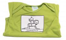 Dětské body Mayaka s krátkým rukávem Horseriding - zelené Vhodné pro věk 3-6 měsíců - VÝPREDAJ