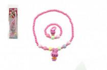 Náhrdelník a náramok korálky perleťové plast 15cm - mix variantov či farieb