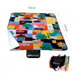 Spokey PICNIC Toddler Pikniková deka s popruhom, orig. Vzor 130 x 170 cm