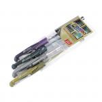 Metal gélové pero-mix farieb - 4ks / sada