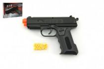 Pistole se zásobníkem na kuličky 17cm + kuličky plast - VÝPREDAJ
