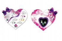 Darčeková sada DUO Briliantina náušnice + prstienok v krabičke na karte 17x15cm - mix variantov či farieb