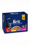 Brit Premium Cat vrecko Family Plate 1200g (12x100g)