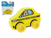 Moje první auto Taxi pes žluté pěna 10x7cm