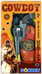Kovbojská sada - revolever + šerifská hviezda kovový 12 rán