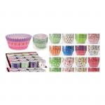 košíček cukrársky 5x3,5cm papierový (80ks) mix farieb / dekorov