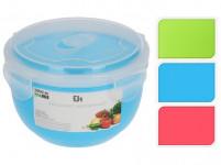 miska 1l s vekom plastová - mix farieb