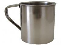 mug 8cm stainless steel - VÝPREDAJ