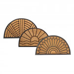 rohož guma + kokos 45x75cm, polkruh - mix variantov či farieb