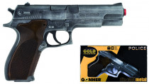 Políčeno pištole Gold colection strieborná kovová 8 rán