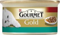 Gourmet Gold cat konz.-kúsky losos a kura 85 g