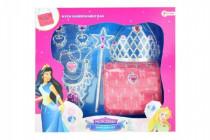 Sada krásy princezná korunka + kabelka + doplnky plast