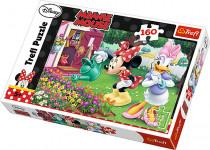 Puzzle 160 - Zalívání květin / Disney Minnie