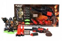 Sada pistole 35cm na pěnové náboje s doplňky plast Black Series