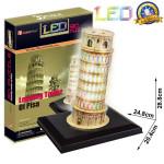 Puzzle 3D Šikmá věž v Pizze LED 15 dílků