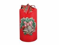 Sviečka ZVONČEKY Sviatočné VALEC vianočné d7x14cm