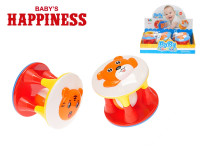 Chrastítko válec 11 cm s kuličkou Baby´s Happiness - mix variant či barev