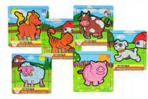 Mini puzzle drevené 9 dielikov Moje prvé zvieratká pre najmenších MPZ 12m + - mix variantov či farieb
