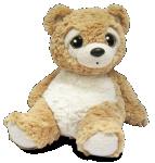 Medvedík plyšový béžový 28 cm