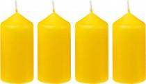 Sviečka adventná 40x75 mm - žltá - 4 ks
