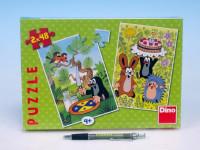 Puzzle Krtek Krtečkovy dobroty 18,1x26,4cm 2x48ks