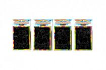 Škrabacie mini obrázok dúhový 8,5x12cm 4 druhy
