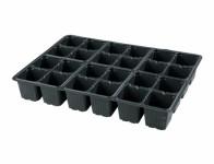 Sadbovač MULTI PL plastový černý 5,5x6cm 24ks