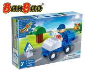 BanBao stavebnice Police Young Ones policejní auto 9 ks + 1 figurka ToBees