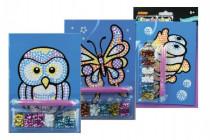 Flitrový obrázek A5 na kartě 14x22cm - mix variant či barev