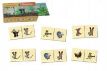 Domino Krtko drevo spoločenská hra 28 dielikov v drevenej krabičke