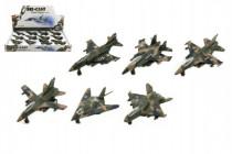 Lietadlo / stíhačka vojenská kov / plast 9cm