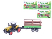 Traktor s vlečkou 16 kov - mix variantov či farieb