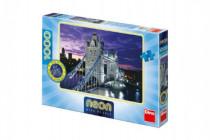 Puzzle Londýn most Tower Bridge svietiace v tme 66x47cm 1000dílků