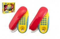 Telefóny izba - izba plast na batérie 2ks vzdialenosť 8m