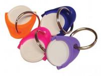 prívesok na kľúče žetónoch plastový (25ks) - mix farieb