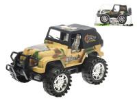 Auto terénní vojenské 23 cm na setrvačník - mix barev