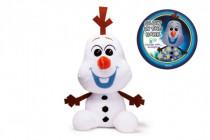 Sněhulák Olaf plyš 30cm svítící ve tmě Ledové království II/Frozen II 0m+