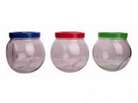 dóza WALLIBUCK 1,2l skl. + plastové viečko - mix farieb