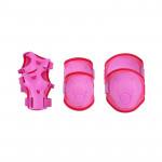 Spokey Buffer 3-dílná sada dětských chráničů, růžové, vel. XS