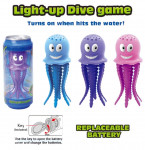 Potápačské chobotnice so svetlom v plechovke